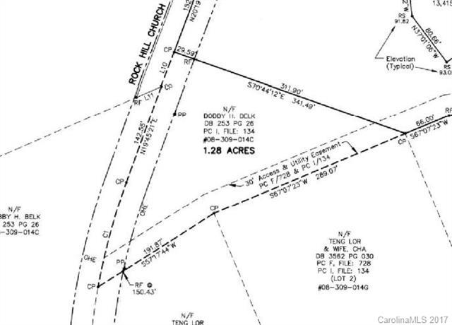 1740 Rock Hill Church Road 1.28 acre, Matthews, NC 28104