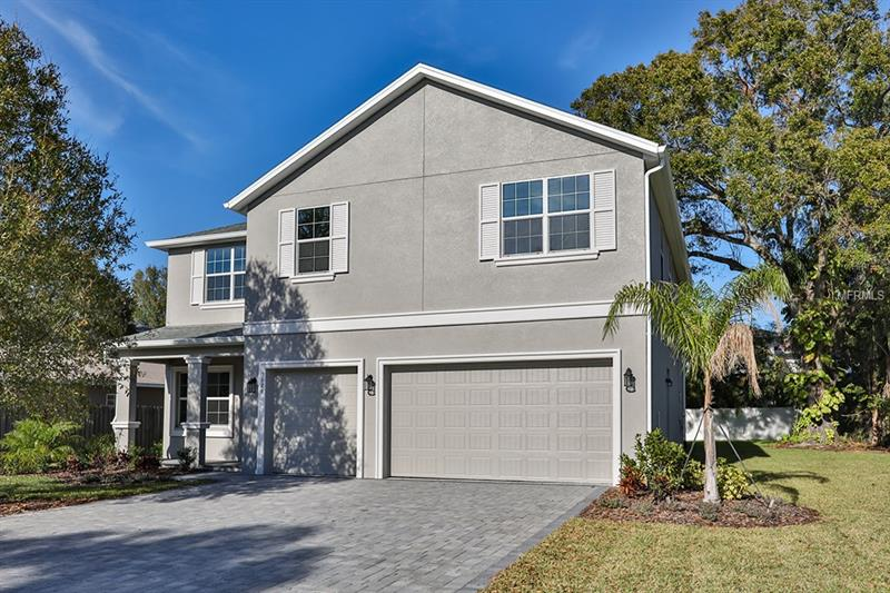 "Under Construction. Quality construction and finishes from a builder who has been building in the Tampa Bay area since 1974. This home has 3,162 square feet with an open loft, den, formal dining room, a three car garage and more. The gourmet kitchen overlooks the family room featuring GE stainless steel appliances, a stainless vault sink, white 42"" cabinets and granite countertops.  A few more included features are a paver driveway, front porch and lanai, hardwood floors in living with oak tread staircase, custom tile flooring in bathrooms. Dining room and master include crown molding and impact glass on all exterior windows. Tons of storage throughout the home with a mud room.  Still time to personalize design selections."