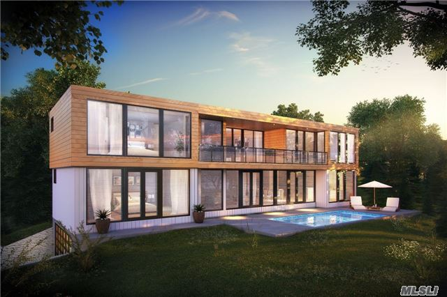 Spectacular Sunset And Waterfront Views Over The Harbor To The Peconic Bay From An Exquisitely Designed New Modern Construction Underway. Dock In Protected Harbor. Frameless Floor To Ceiling Glass And Abundant Wrap Around Deck Insures Tranquility From Every Vantage Point. A Well-Conceived Floor Plan With Masterful Execution. On Site Viewings Can Be Arranged By Appointment.
