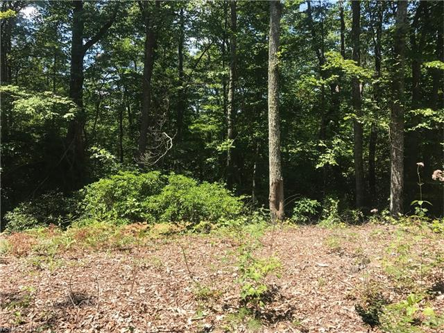 Affordable secluded lot in High Peak Lake Estates. Manufactured home allowed.