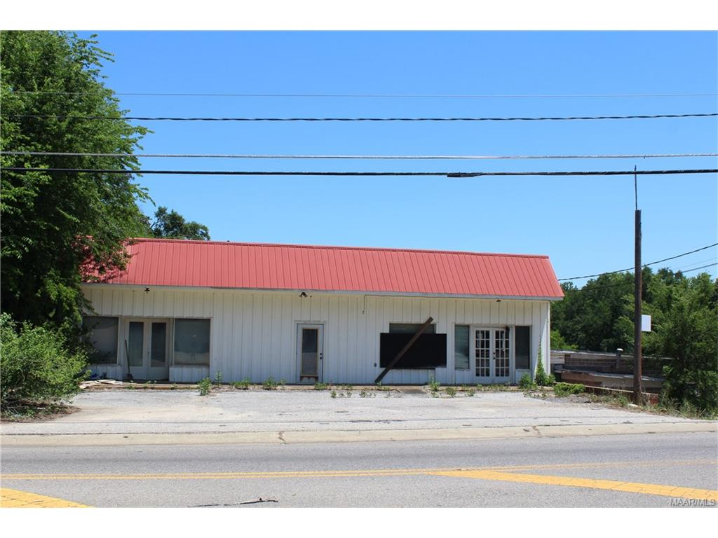 Commercial property located off of Hwy. 229 in Tallassee. Commercial building on one parcel and residential home on adjacent property. SOLD AS-IS.