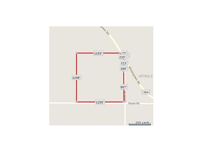 DOZIER ROAD, BASCOM, FL 32423