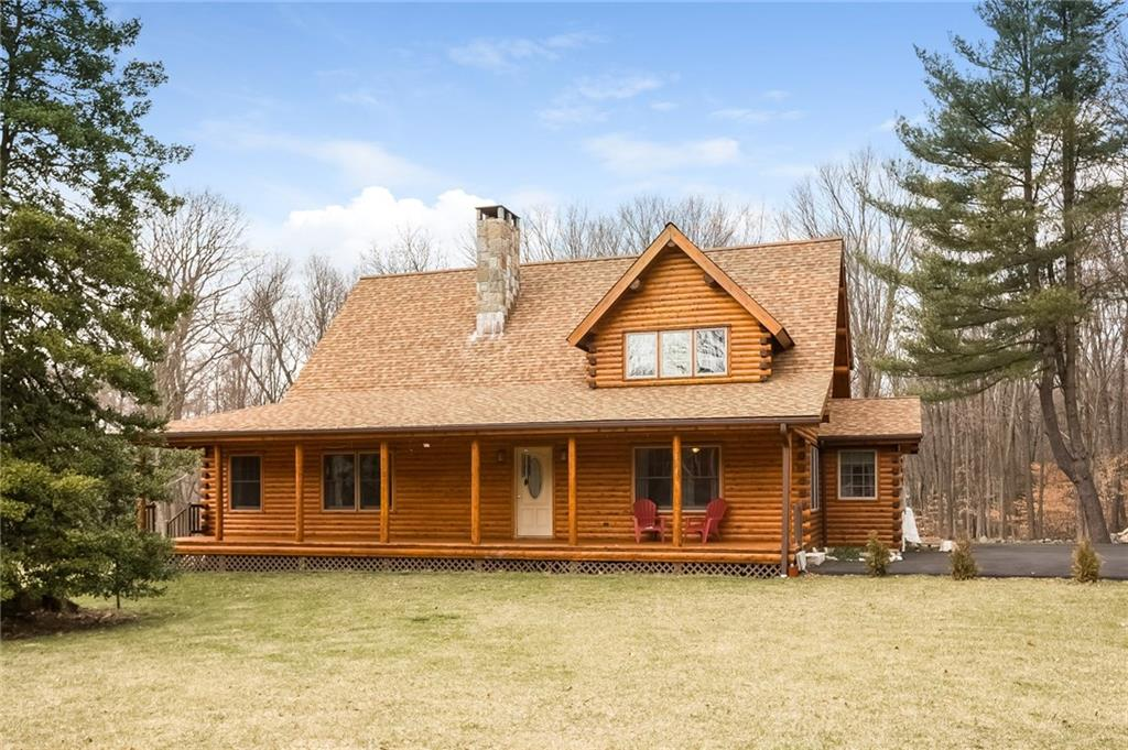 *Open House Sunday Aug. 20, 2017 from 12-2, come and tour the home and get to ask questions!*  Welcome to a gorgeous young custom built log home.  This beautiful Coopersburg home was custom built in 2009 by Ward Cedar Log Homes, a leading and well known manufacturer.  The home is situated on 2.32 flat acres, and abuts The Vista Property, a 36 acre town of Wilton maintained property, with scenic trails for horseback riding and hiking.  There is a detached barn, that is over 800 square feet on the first floor, with a completely finished second floor loft of similar size, excellent for workshops and car enthusiasts.  The interior of the home is stunning, with floor to ceiling log construction, which will stun even the most critical eye.  Come and see this dream home for yourself, it truly is one of a kind!  The entire home was just treated again, and it is absolutely gleaming and ready for you to make it your own. Conveniently located near many other land conservation trust properties for nature lovers or for when you need to get away from the hustle and bustle of the city, while being less than 60 miles from NYC.