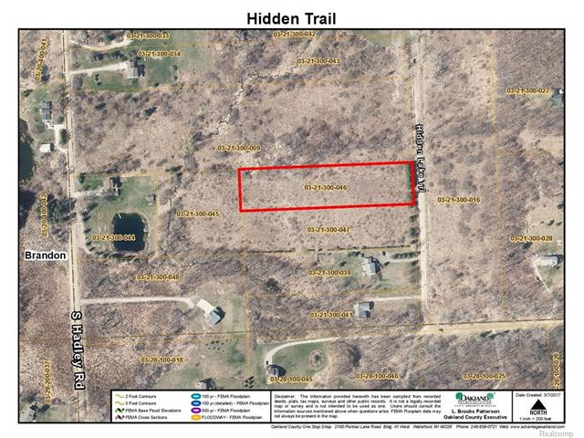 00 Hidden lake trail TRL, Brandon Twp, MI 48462