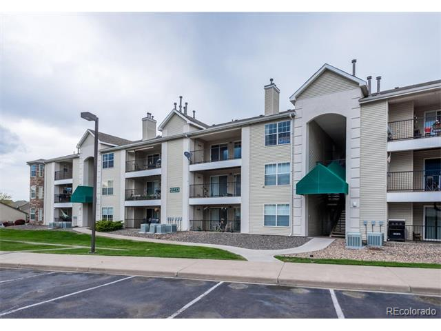 Awesome mountain views & great value on this 2 bedroom, 2 bath condo.  Features separate bedroom/baths, master oval soaking tub, washer/dryer/refrigerator, big patio & gas fireplace.  Community has pool and fitness center.  Close to trails, public transportation, rec center, c-470 & more!