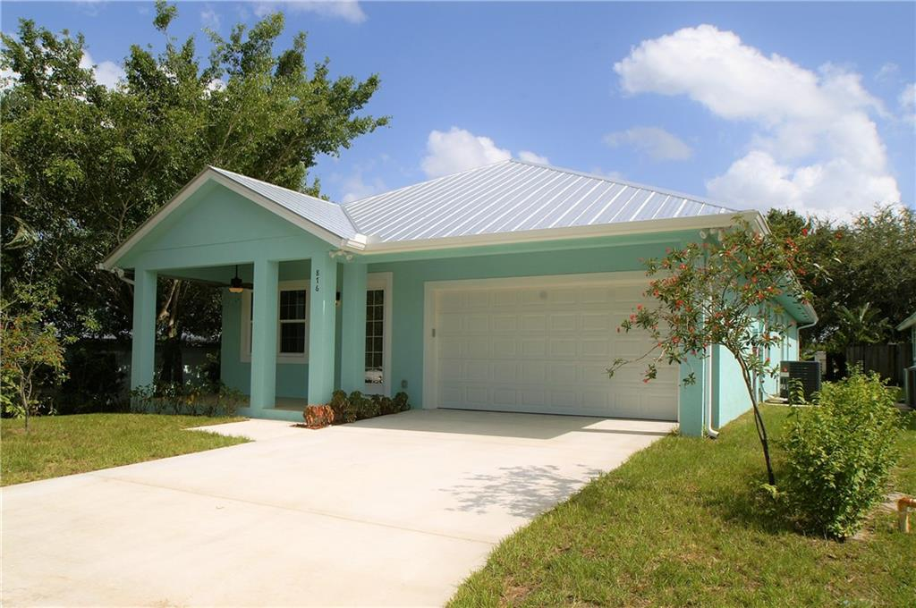 Location Location Location! New construction just completed and ready for you. Beautiful brand new Key West style home, located in sought-after Palm City. Step inside this 4 bedroom, 3 bath home and see the quality of construction. This home has two master suites and the third bedroom has a private bathroom door entry to the main bath. Ten foot ceilings, eight foot doors, impact glass and upgraded baseboard. The master has a Tray ceiling. This must-see Key West style home also offers a front and back porch for outside Florida living.