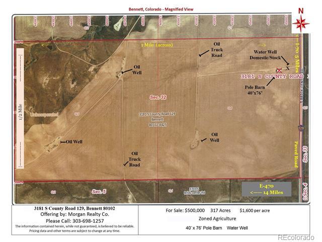 3181 S County Road 129, Bennett, CO 80102