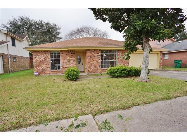 This 3 bedroom home has large rooms throughout.  Large kitchen with granite counters and custom cabinets, separate dining room. Den has vaulted ceiling and brick fireplace. Updated bathrooms, ceramic and laminate flooring throughout.