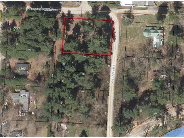 Beautiful wooded lot overlooking lake Osceola (Lake undergoing repairs, will be complete soon), Only minutes from Historic Downtown Hendersonville Two adjoining parcels PIN: 9568312623 and 9568312638 also available.