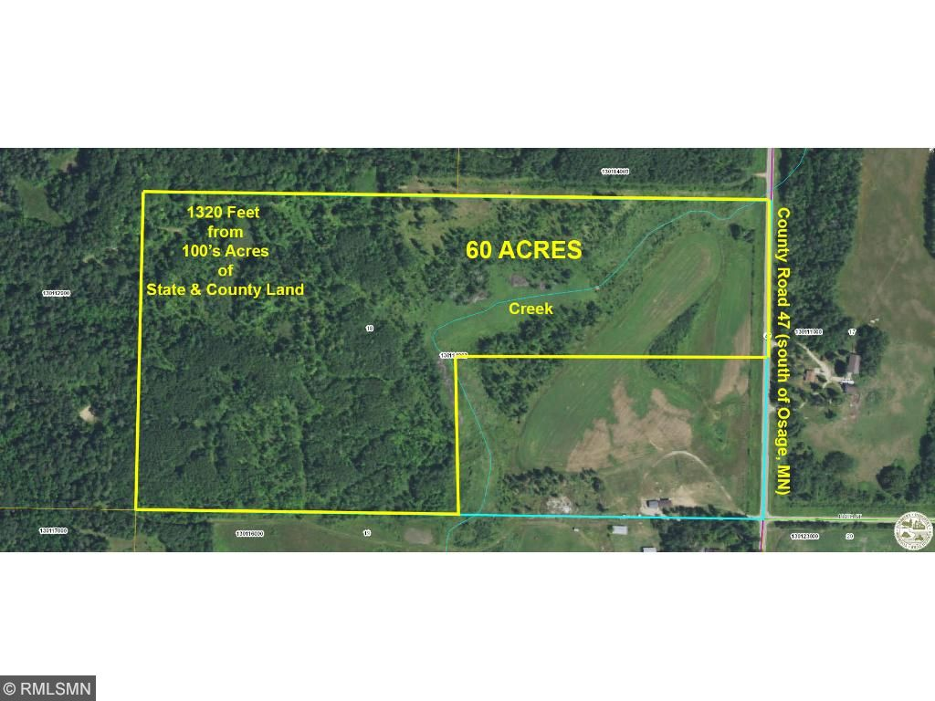 60 Acres County Highway 47, Osage, MN 56570