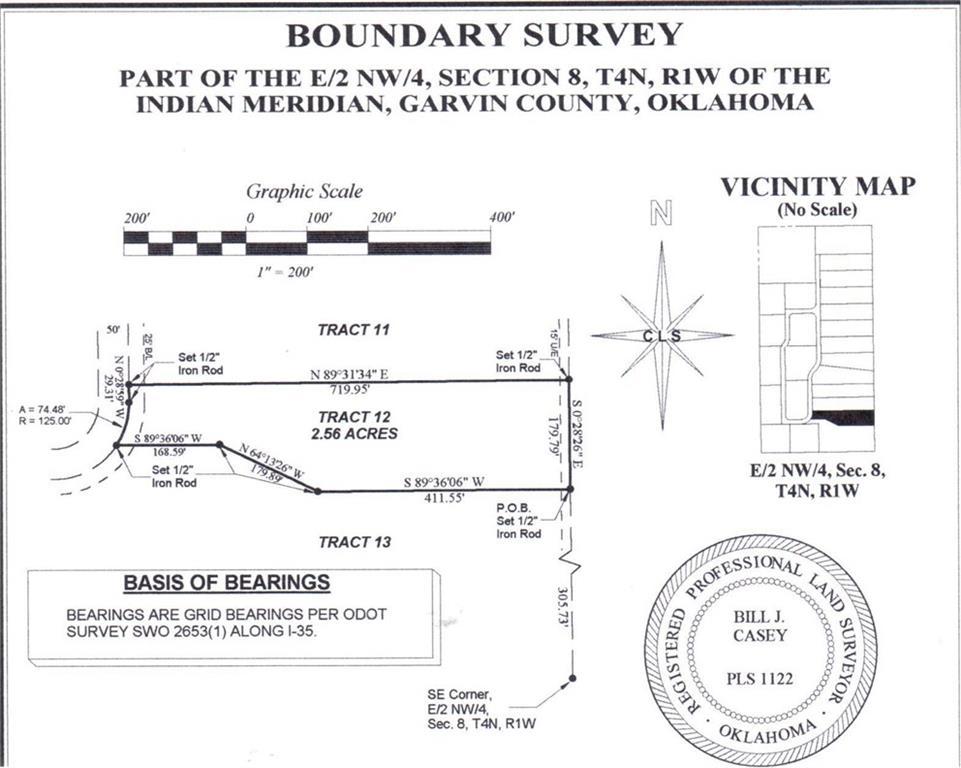 N County Road 3183 (Tract 12), Paoli, OK 73074