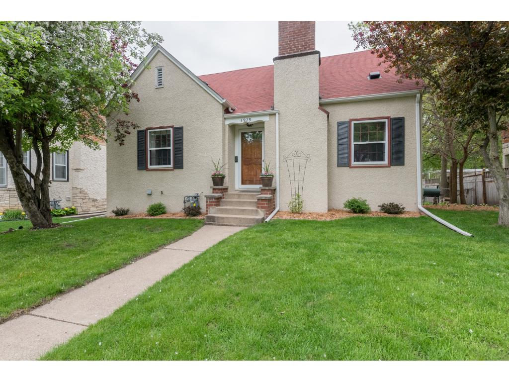 Charming home close to Lk Nokomis, Minnehaha Creek walking/biking trails, restaurants, entertainment & more! Updates incl roof in '12, AC in '10 & new oversized 2-car garage in '10. Hrdwd flrs thru main lvl. Living rm w/wood-burning fplc. Dining w/corner built-ins. Kitch w/SS appls, tile flr/backsplash & granite. 2 main lvl BRs + full BA. UL Master suite renovated in '17 w/gorgeous private BA. LL family rm, rec area, laundry & tons of storage! Fully fenced backyard w/patio. Close to I-35W & 62.