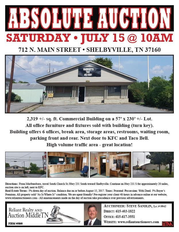 712 N Main St, Shelbyville, TN 37160
