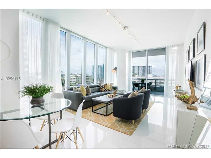 """Beautifully designer furnished at renowned South Tower Carillon, formerly called """"Canyon Ranch."""" Enjoy this """"Beachside House"""" featuring high 10.5' ceilings, 36X36 white porcelain flrs, European cabinetry/appliances & built in closets. Located on same flr as the 70,000 SF spa, pools & gym - great location, fantastic price & literally a world of adventure, indulgence & dining at your doorstep. Faces SW w/ beach/city views. Also for rent, furnished."""