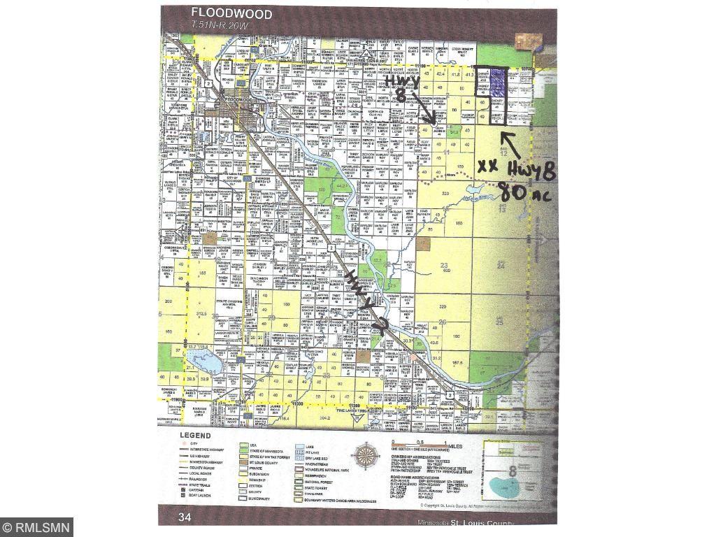 XX HWY 8, Floodwood Twp, MN 55736