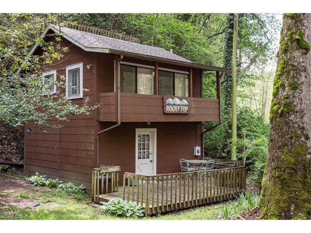RIVERFRONT.............Sit on your roof-top deck overlooking the Broad River and relax. This affordable 1 bedroom cottage is close to Chimney Rock State Park and Lake Lure.