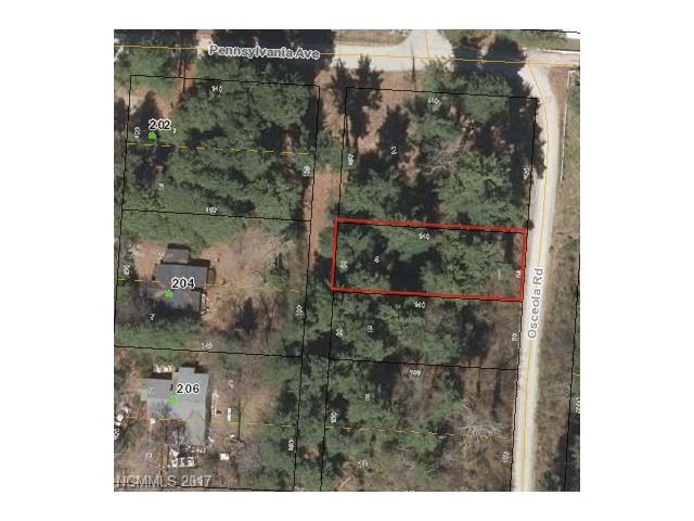 "Two parcels PIN: 9568312623 and 9568312638 combined to create this wonderful wooded lot at Osceola Lake only minutes from downtown Hendersonville. Lake is currently undergoing repairs, the repairs will be completed soon and lake will be full; year round view of the lake. City sewer is available and the seller will install the sewer line, buyer is responsible for the ""tap"" fee. Adjoining parcels Pin:9568312515, Pin:9568312734 can be included with this parcel for a package price of $150,000.00"