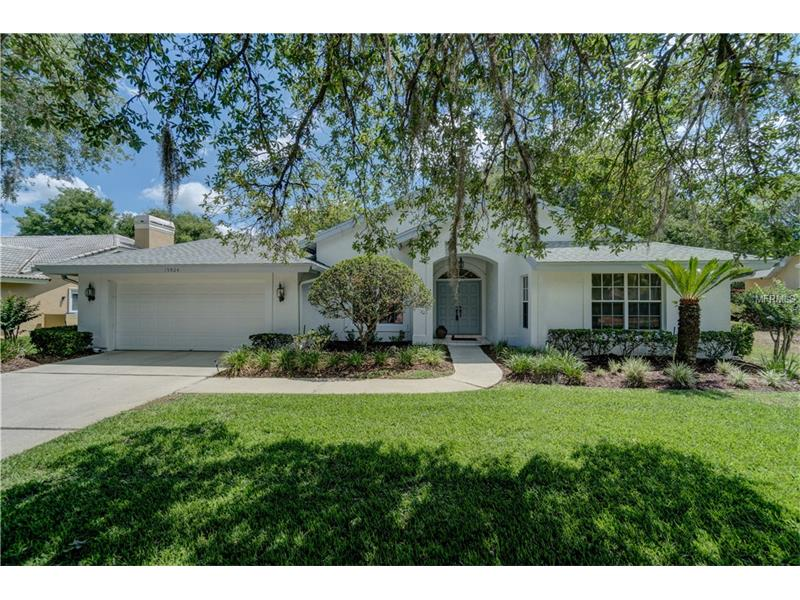 Pristine 3 bedroom plus den /3.5 bath home w/screened pool and over 2,700 sq.ft of living area. This stunning TAMPA PALMS home features the perfect floor plan and great curb appeal.  Meticulously maintained inside and out.  2014 Roof, 2016 AC, new pool pump & more. This beautiful spacious floor plan is perfect for a family or any lifestyle. Featuring 2-2 split bedroom plan,  Den has closet by entry door to bedroom-easily be a 4th bedroom, High ceilings, light and bright, Formal living room w/Tray ceiling, formal dining room, Large open kitchen, family room w/fireplace, huge master bedroom with sitting area, French doors leading to pool area and two huge walk-in closets, master bath with dual sinks, garden tub and walk-in shower. The Gourmet kitchen features island, breakfast bar, tile counters and backsplash, abundance of cabinetry, built in wall shelves for your cookbooks or décor, window pass through to lanai-great for entertaining.  Plus separate breakfast area.  All overlooking Pool and lanai. Outdoors space includes large screened covered lanai and pool area, gas grill, access to full pool bath.  Don't miss the oversize 2 car garage. Plenty of room for cars. This desirable location is walking distance to Publix, dining, shopping & more. TOP RATED SCHOOLS. Just minutes to Florida Hospital, Tampa Palms Golf and Country club, major hwys, plus more.