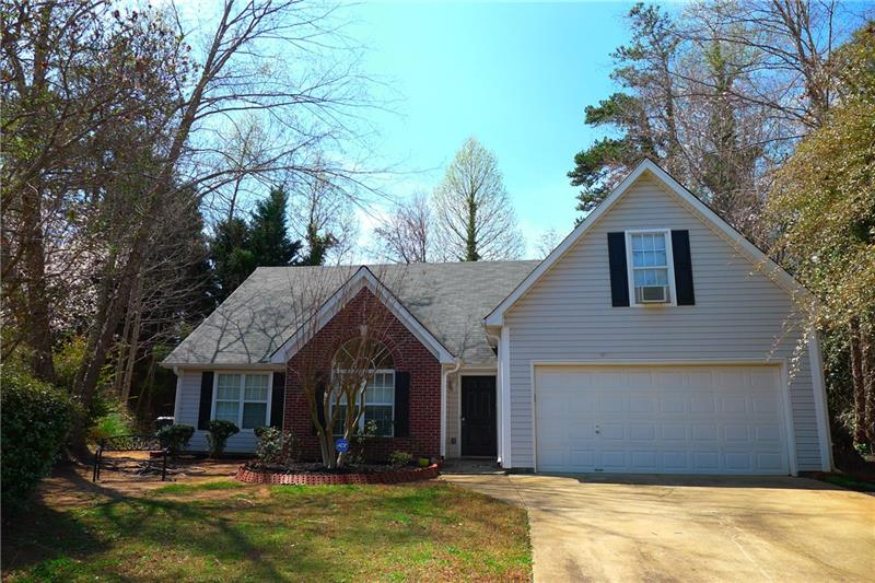 A JUST WOW NEW LISTING!! AND AMAZING PRICE FOR PRIME SUWANEE!! NESTLED IN HEART OF CUL-DE-SAC ON COMPLETELY LEVEL LOT, THIS GORGEOUS RANCH-STYLE HOME IS VERY NEAR SUWANEE'S BEST SHOPPING, AND ADJACENT TO BRAND NEW PARK! NEW UPGRADED KITCHEN COUNTERS. STUNNING BRAZILIAN-CHERRY HARDWOOD LIKE FLOORING THROUGHOUT! MASTER ON MAIN WITH TALL, VAULTED CEILINGS. ROOF 6 MONTHS OLD! ENTERTAINING OPEN FLOOR PLAN- ONE OF COMMUNITY'S LARGEST. SUNNY DINING/ BREAKFAST ROOM. CUSTOM FLOORING. LARGE 4TH BEDROOM OR BONUS ROOM UP- WITH BACK STAIRCASE. BEAUTIFUL! A MUST SEE SURE TO GO QUICK.