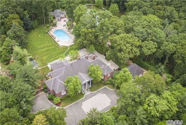 A Rare Opportunity To Own This Extraordinary European - Inspired  10,000 + Sq.Ft. The Estate Features Every Amenity, Gracious & Sophisticated With Custom Crown Moldings Through Out, Gourmet Chefs Kitchen, Master Suite With Balcony,  In-Ground Gunite Heated Pool & Spa, Full Service Guest House, Koi Pond & Waterfall, Tennis Ct, Putting Green, Sequestered On 5 Private Acre