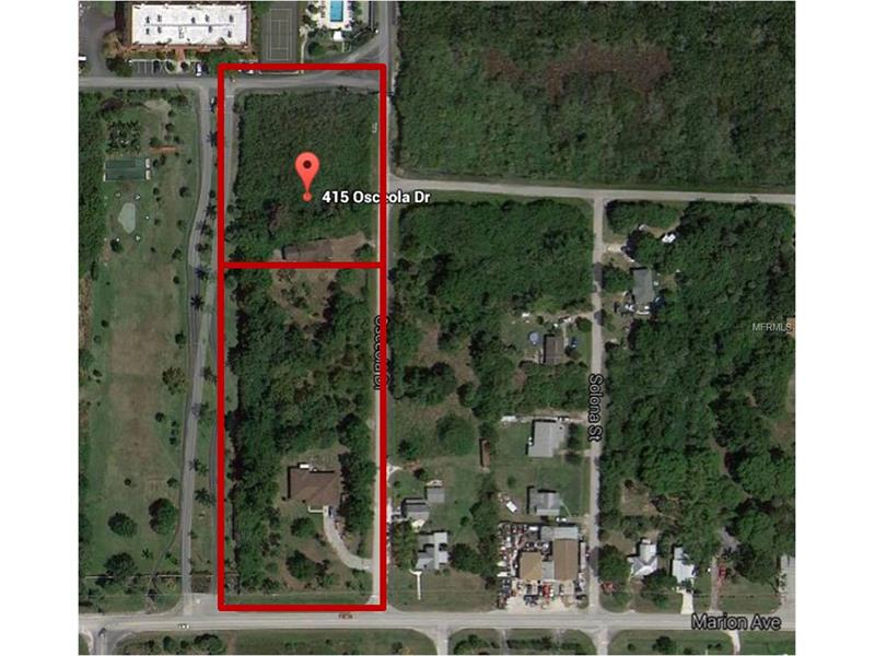 3.8 ACRES OF LAND ZONED OFFICE, MEDICAL, INSTITUTIONAL (OMI) WITH 190 FEET OF FRONTAGE ON OLD  MARION AVE GIVING HIGH VISIBILITY.  It is just minutes from Historic downtown Punta Gorda, Bayfront Health Hospital, Charlotte County Justice Center, I-75 and more.  The listing is for the 25260 Marion Ave parcel which is 190 x 462 and 106,722 sq. ft. and 415 Osceola Ave parcel which is 190 x 312 and 58,806 sq. ft. for a total of 3.8 acres. DON'T MISS THIS OPPORTUNITY!