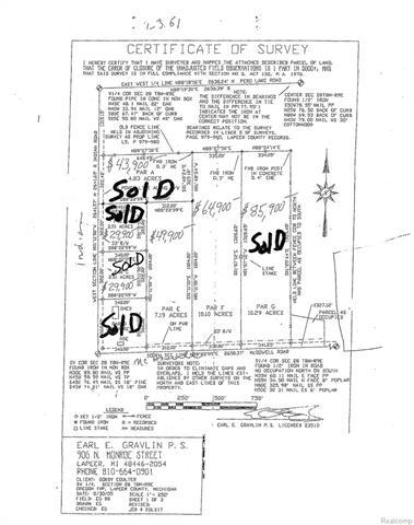 PARCEL F Mcdowell RD, Oregon Twp, MI 48446