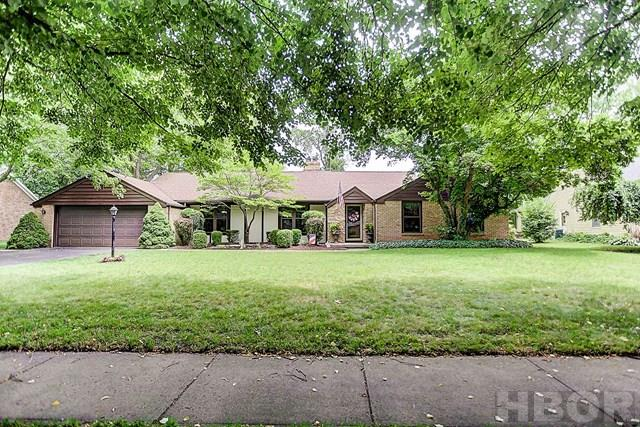 Rooney & Assoc. Real Estate listing! Contact Brian Whitta (419/701-4040) or Kim Cameron (419/306-7823) for your personal tour of this well-maintained and nicely-updated ranch in Country Club Acres. Kitchen with dinette features granite, custom cabinets, stainless appliances. Generous living space! Dining Room! Master suite with walk-in closet and ensuite, windows, roof, and skylights have been replaced. Nice yard! Located close to Wilson Vance, and St. Michael Schools. Owners report that one bedroom has hardwood under the carpet.