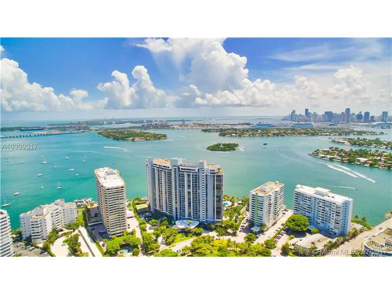 """Renovated by noted designers! This 2B/2BA jewel is everything you are looking for on the waterfront of the Venetian Islands. Featuring largest living room in the """"09"""" line with imported marble floors throughout, custom cabinets in kitchen, wine cooler, full sized washer/dryer, with large master suite, spa/Jacuzzi bath, bidet, and enormous walk-in closets. Includes 1 parking spot; & 2nd parking spot is available for rent. Full service established building with LUX amenities: security, concierge, heated poo"""