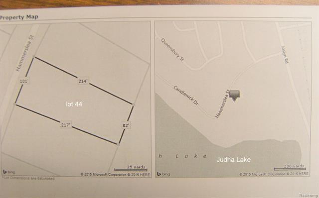 Vacant Hammerslea Lot 44, Orion Twp, MI 49359