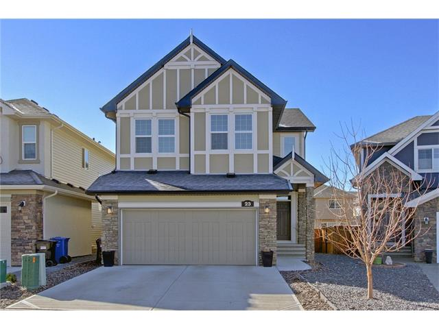 Cranston offers an easy retreat into nature, bordering Fish Creek Park and the Bow River Valley. The Cranston Club serves as a hub for community involvement and offers lots of indoor/outdoor activities and programs including a water park, tennis, hockey rink and more. This popular Huxley model by Cedarglen Homes is located on a quiet street and offers over 2150 sq. ft. of quality living space. Beautiful engineered hardwood flooring throughout the main with tile in the upstairs laundry and baths. Huge island with extended breakfast ledge. Granite counter tops in the kitchen and baths. The wide open design and 9 ft. ceilings add to the spacious feel. This floor plan is excellent for entertaining and every day family living. The kitchen opens to a sunny south backyard complete with a deck, fencing, landscaping and garden shed. Good separation with a large upstairs bonus room. Upstairs laundry room. Impressive 5 pc ensuite bath with 2 sinks and soaker tub. Spacious 2nd & 3rd. A must view, call now!