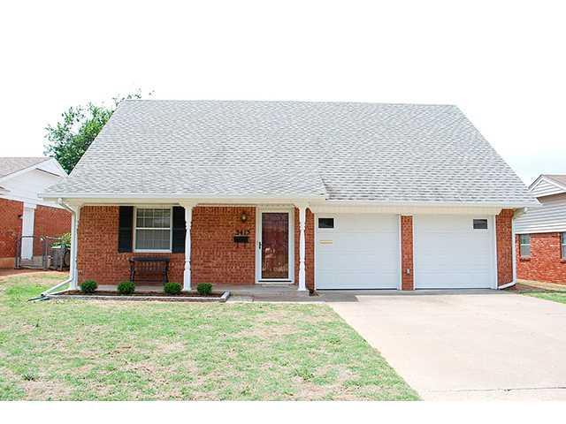 3413 N Glenvalley Drive, Midwest City, OK 73110