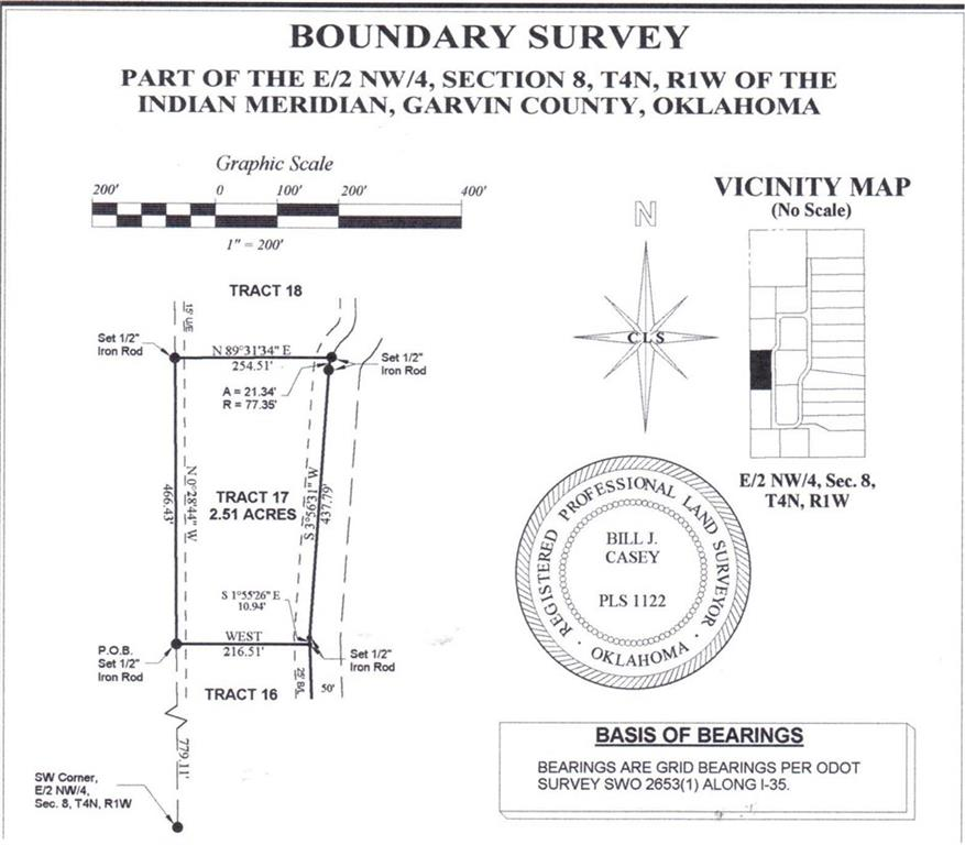 N County Road 3183 (Tract 17), Paoli, OK 73074