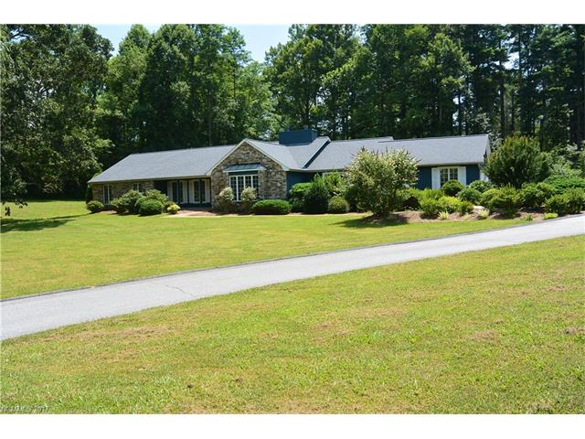 One Level Living with almost 3,000 SF on a gorgeous, private 2.4 acre property in Flat Rock!  Large rooms! (3 Beds, 2.5 Baths). Nice Entry, Large office, Huge Living Room, Open kitchen with nice island/breakfast area/family room, oversized baths, mudroom, master has private covered patio area, nice views of the fenced inground pool from several rooms.  One owner home was custom built to last! Beautiful Neighborhood.