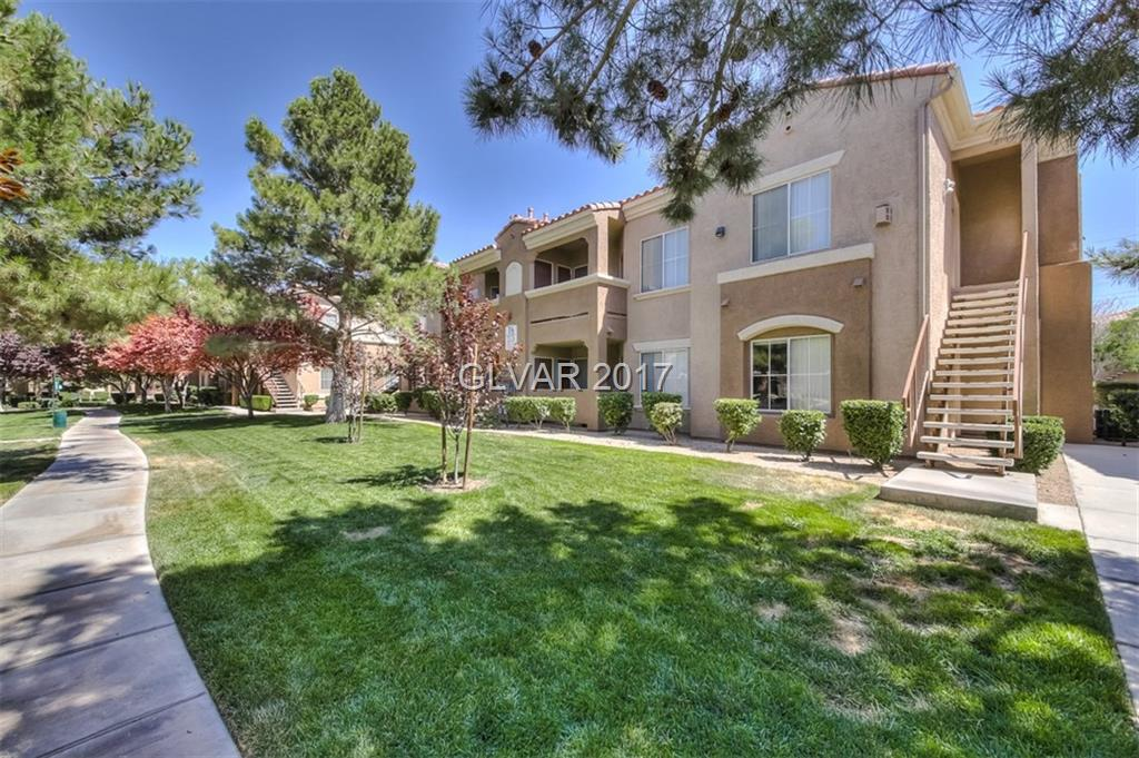 Mission Point condo in gated Silverado Ranch community. Beautiful kitchen w/stainless steel appliances, granite style counter tops & cherry wood cabinets. Cozy gas fireplace in the living room which contains a balcony. Features a double master bedroom layout. 1st master bedroom w/large walk in closet & full bath w/large garden tub shower. 2nd master w/ large wall closet & private bathroom entry. New carpeting throughout.