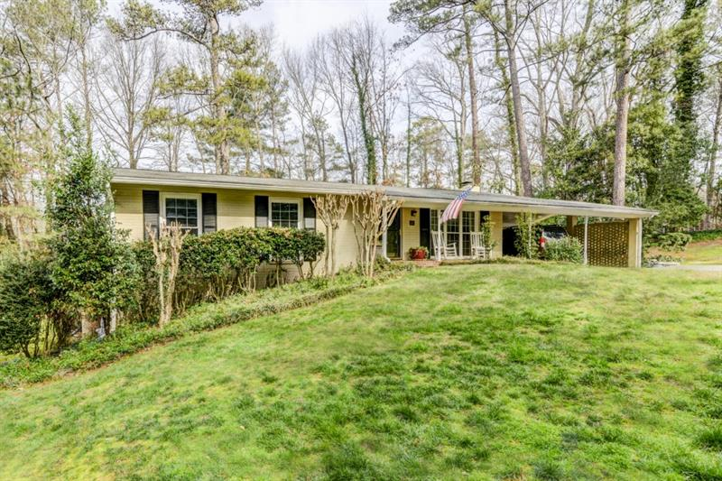 Hurry! Adorable home w/ rocking chair front porch in Heards Ferry ES! Light & open liv space includes fam rm,din rm,& liv rm w/ built-ins & FP. Kitchen offers tons of storage/prep space. Master feat dual closets,sitting rm,& priv bath. Add'l bdrms well-sized & bright & share updated hall bath. B'ful hdwd flrs & extra wide baseboards on main lvl. Fin basement provides add'l living/lounging space & tons of storage. Property backs up to land that can't be developed creating priv & serene b'yard. Wonderful location convenient to interstates,parks,restaurants,& shopping!