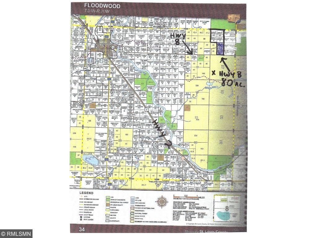 X HWY 8, Floodwood Twp, MN 55736
