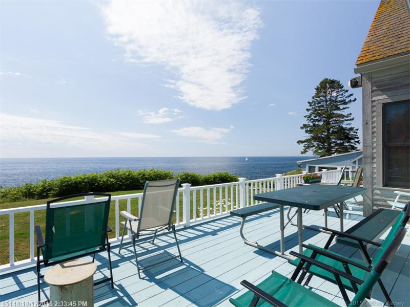 Talk about LOCATION!! With breathtaking views of the Atlantic Ocean, this home and business is located next door to the historic landmark, Pemaquid Lighthouse. For years tourists and locals have been visiting this picturesque spot to get a true taste of Maine. Enjoy the crash of the surf while basking in the sun on your deck overlooking the ocean. Business includes The Sea Gull Gift Shop & Restaurant.  Having been in operation since 1937, families return year after year for an old-fashioned experience.