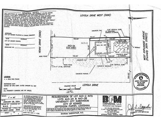 WEST ESPLANADE AND LOYOLA Avenue, Kenner, LA 70065