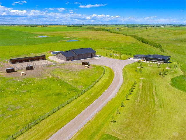 80 ACRES With 6,000 SQ.FT HEATED SHOP & BUNGALOW, Rural Rocky View County, AB T0M 0S0