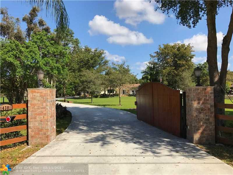 14301 MUSTANG TRL, Southwest Ranches, FL 33330