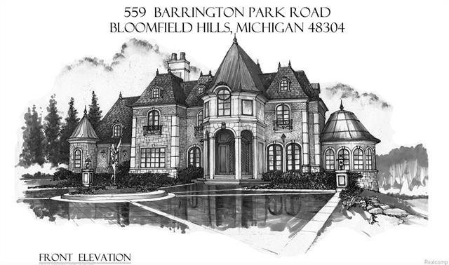 This is an external shot of a Barrington Park Rochester Hills MI home.