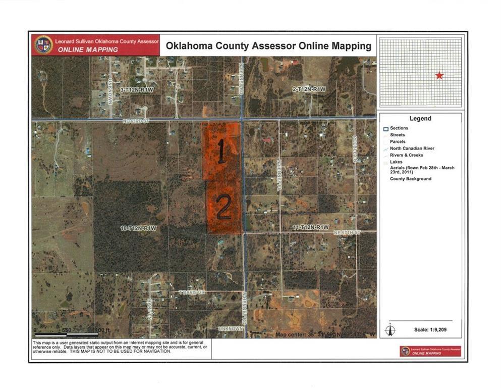 13708 NE 63rd St Tract 1 & 2, Choctaw, OK 73020