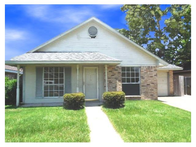 Could be cute with some repairs.  Ceramic tile and laminate flooring throughout, updated kitchen backsplash. Bonus room can be used as additional bedroom, TV room or playroom. Large fenced yard with nice size shed for storage.