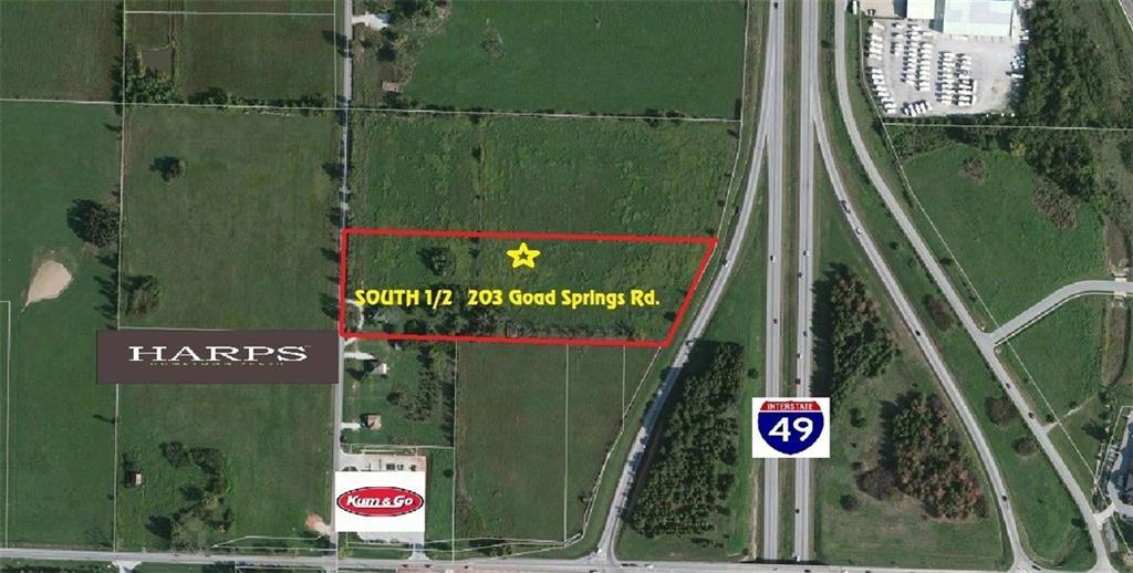 203 (S 1/2 OF) N Goad Springs RD, Lowell, AR 72745