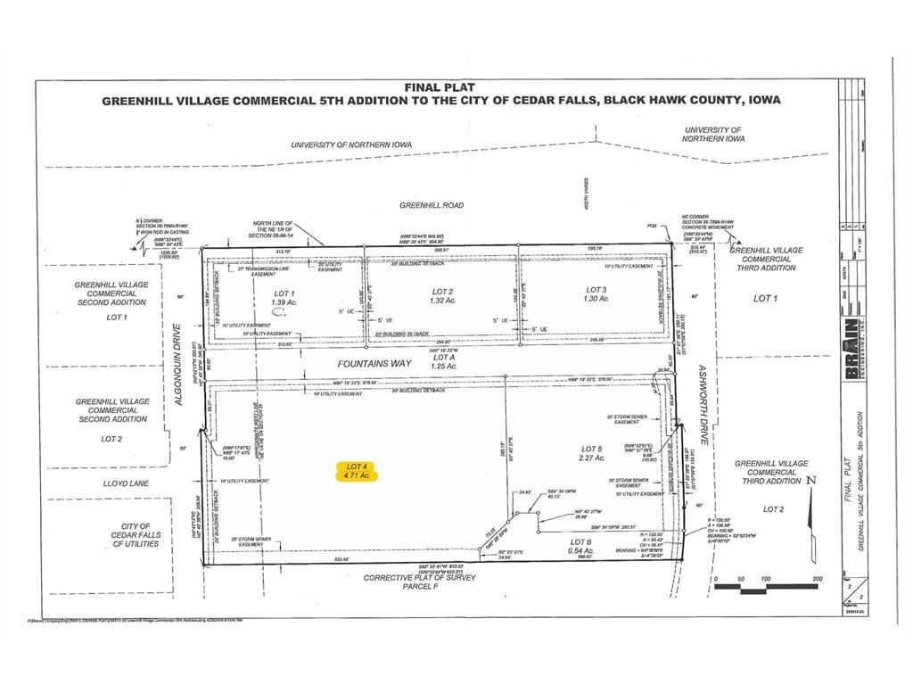 Lot 4 Greenhill Village Commercial, Cedar Falls, IA 50613