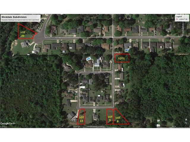 Lot 1, 8, 9, 13, 23 WESTDALE SUB None, Hammond, LA 70410