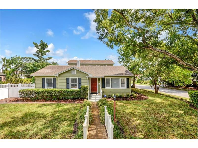 Beautiful South Tampa Bungalow pool home on a quarter acre. This FIVE BEDROOM, THREE full BATH bungalow has nearly 2700 square feet. Original hardwood floors throughout the main house. FORMAL plan with living room, Separate dining room and large family room with a cozy gas fireplace (w/new fire logs) as the focal point. The HUGE upstairs MASTER BEDROOM addition features a HUGE WALK-IN CLOSET and HUGE MASTER BATH. DOUBLE MASTER configuration with original master bedroom DOWNSTAIRS including full bath. Would make an excellent GUEST SUITE or multi-generational room. Wonderful curb appeal, sitting high and dry on a huge corner lot in one of Tampa's most sought after neighborhoods.  The lushly landscaped and fenced backyard oasis features an oversized brick paved in-ground pool and spa and just received a 40K overhaul including tree removal, new sod/landscaping, irrigation w/ rust removal filter, new pool pump/ wiring and new sundeck. One car GARAGE and double side gate, terrific for BOAT or RV STORAGE.  Roof, plumbing, electrical, HVAC all updated within the last ten years. New windows on the expansion and new blinds throughout.  Located in all the best school districts. Close to downtown, dining, shopping, entertainment and easy commute to the airport and beaches.  Hurry and see so you don't miss out on this awesome home!