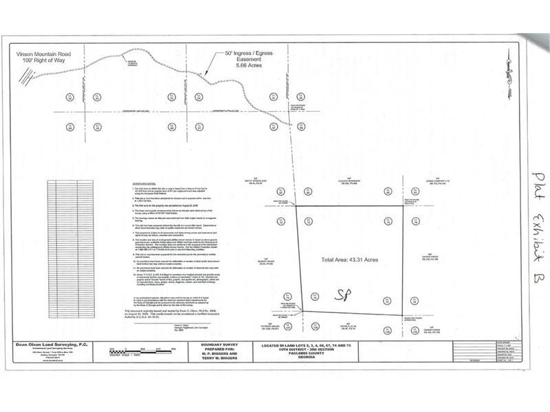43.31 Acres on Vinson Mountain Road, Rockmart, GA 30153