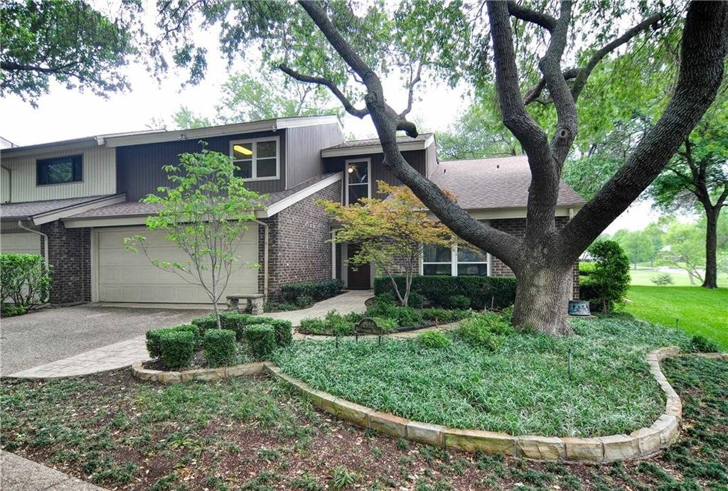 End unit, split-level townhouse with golf course views and mature landscaping.  Townhouse features guest BR on 1st floor along with library with built-ins & two closets.  A few steps down opens to large, light, & bright liv. room w FP, wetbar, & wonderful views to patio and golf course.  Kitchen has double ovens, electric cook-top, silver closet, & lots of storage.  Din. room has access to oversized patio overlooking golf course & creek.  Upstairs features master ste w sitting area, dbl vanities, sep. dressing area, & walk-in closet; separate kitchenette with sink, microwave, fridge, & walk-in pantry; and another study or gameroom.  Two add. bedrooms share a bath on 3rd floor.  Very peaceful and serene setting.