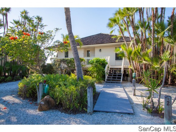 -Luxurious beachfront home offering carefree elegance and casual sophistication.  Tasteful interior with stainless appliances, granite countertops, commercial grade tile throughout the main living area.  Stone countertops in the bathrooms and utility room.  Tumbled marble and subway tile showers.  Gorgeous gulf views.  This Beach Home offers everything you have been waiting for.  Great rental potential.  Bring your most discriminating client.  Enjoy beautiful Captiva sunsets or spend your days soaking up the sun on our pristine Captiva beach.  Rare opportunity, too good to miss!